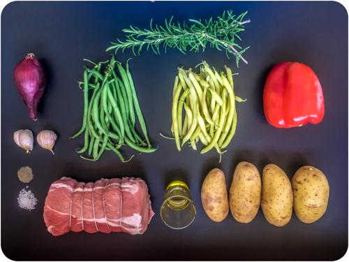 Les ingrédients pour la Recette du Rôti de porc à la provençale