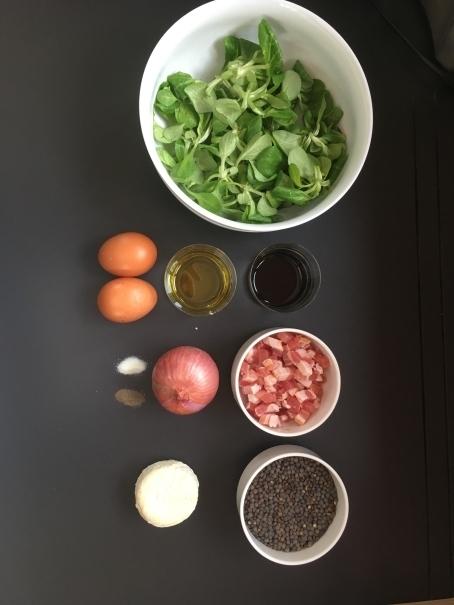 Salade bio mache lentille chevre ingredients cocorimag