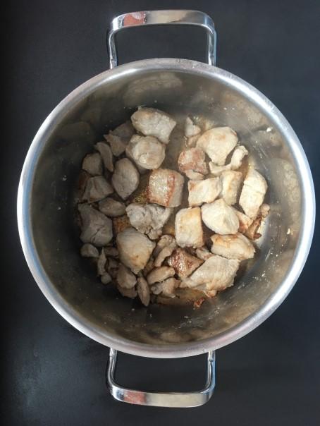 Cuisson 1 du sauté de porc bio curry coco cocorimag