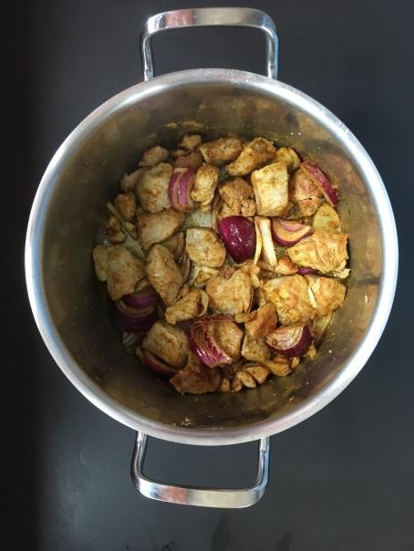 Cuisson 2 du sauté de porc bio curry coco cocorimag