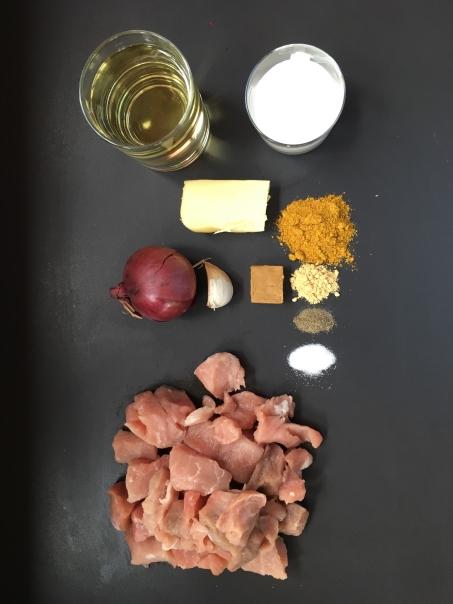 Ingrédients du sauté de porc bio curry coco cocorimag