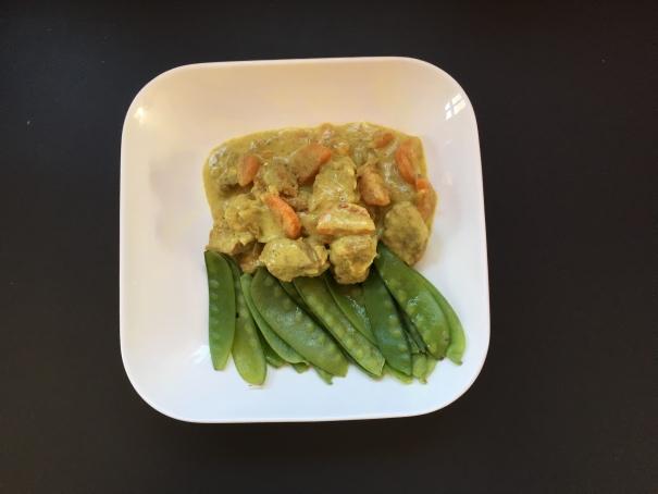 Le sauté de porc bio curry coco pois mange tout cocorimag