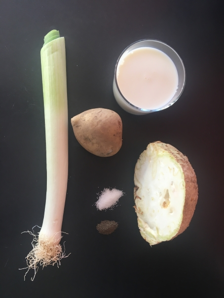 Ingrédients du velouté de poireau pomme de terre et celeri rave ccorimag